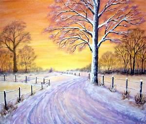 Kunst Bilder Zum Nachmalen : winterlandschaft 1 malerei winter baum schnee von mike bei kunstnet ~ Eleganceandgraceweddings.com Haus und Dekorationen