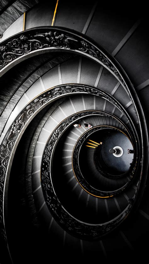 abstract black  staircase android wallpaper