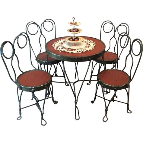 ice cream parlor table ice cream parlor table and chairs great for schoenhuts