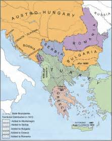 Balkan Peninsula Map 1914
