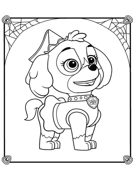 Skye Paw Patrol coloring pages Download and print Skye
