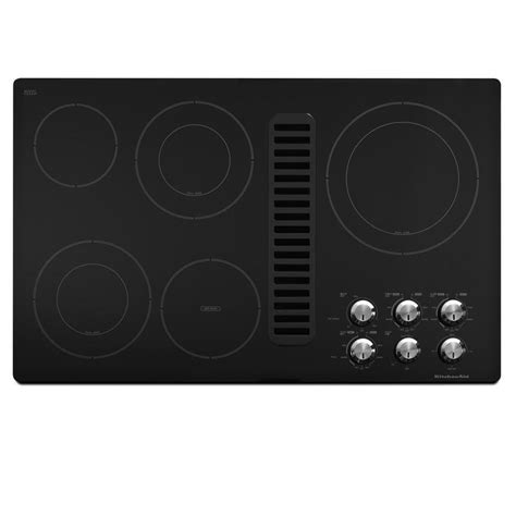downdraft electric cooktop shop kitchenaid 5 element smooth surface electric cooktop