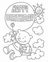 Coloring Birthday Happy Pages Print sketch template
