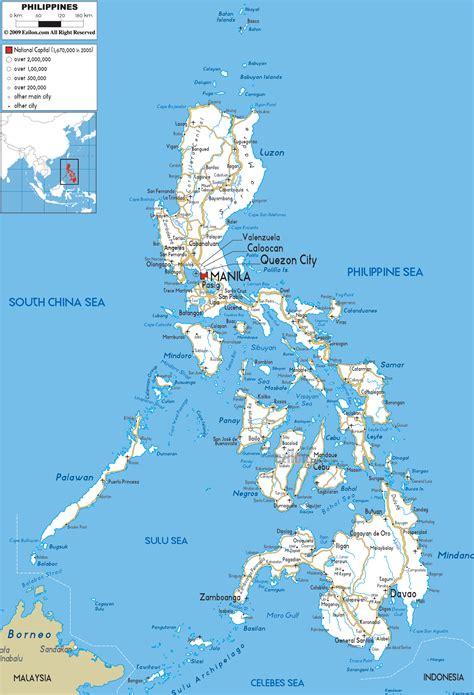 road map  philippines ezilon maps