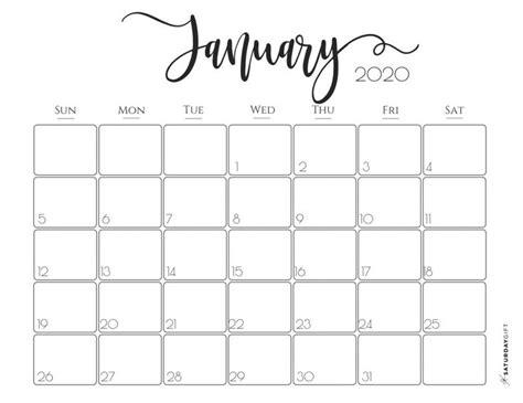 elegant  calendar  printables january calendar