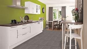 cuisine mur vert anis With murs de cuisine décoration