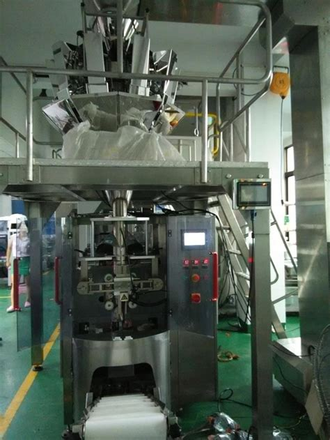 single web vffs system multihead pouch bags packing machinery  nitrogen gas flushing