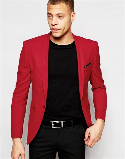 asos blazer in cotton lyst asos suit jacket in in for