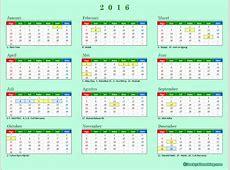 Kalender 2016 Indonesia, lengkap dengan libur nasional