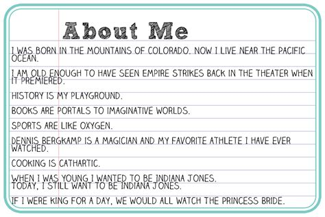 Resume Paragraph About Myself Exles by Sweet Dreams Are Made Of These About Me By My Husband