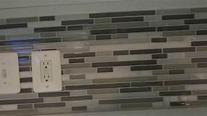 Detailed how to diy backsplash tile installation youtube for Diy backsplash tile installation