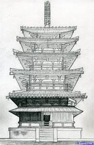 How To Draw A Pagoda  Japanese Pagoda By Finalprodigy
