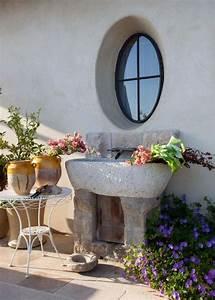 quelle vasque design rustique pour votre salle de bain With salle de bain design avec vasque en pierre pour exterieur