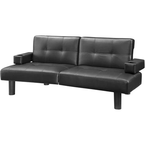 19 mainstays sofa sleeper brown faux leather