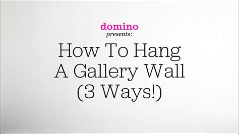 How To Hang A Gallery Wall (3 Ways!)  Youtube