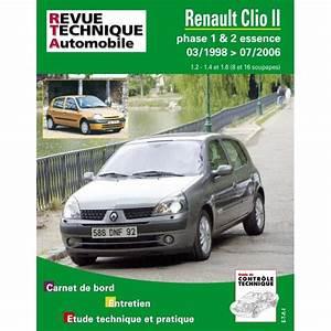 Clio 2 Essence : revue technique renault clio 2 phase 1 et 2 essence rta site officiel etai ~ Gottalentnigeria.com Avis de Voitures