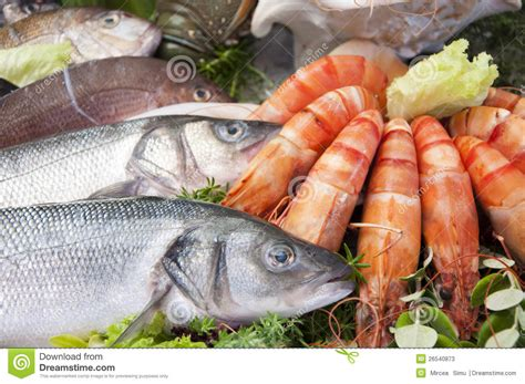 Fresh Seafood Stock Image. Image Of Gourmet, Fishmonger