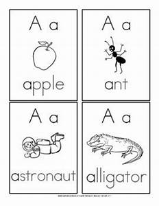 flash cards letters of the alphabet with vocabulary words With 2 letter words flash cards