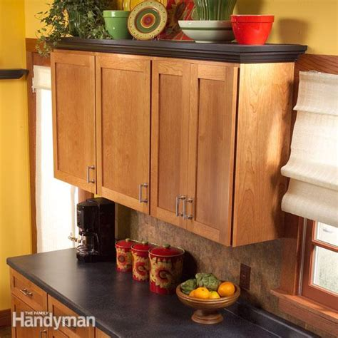 How To Add Shelves Above Kitchen Cabinets  The Family