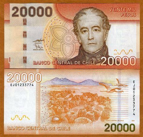 Chile 20000 20000 Pesos 2009 P New Unc Ebay