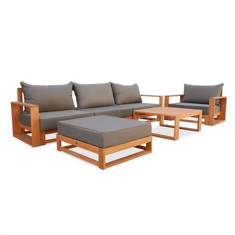 canape exterieur bois canape de jardin bois table de jardin ronde metal