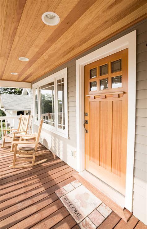 craftsman style doors entry craftsman  cedar porch