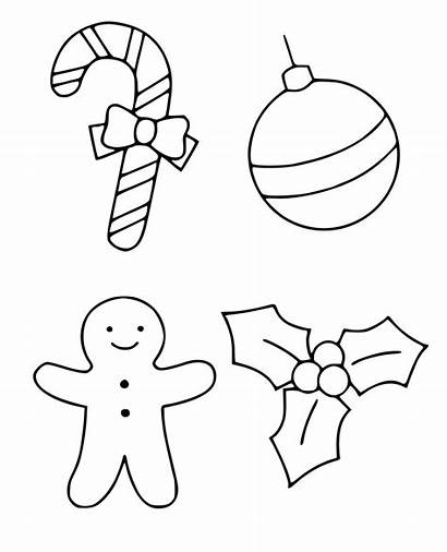 Coloring Ornaments Ornament Printable Easy Tree Preschoolers