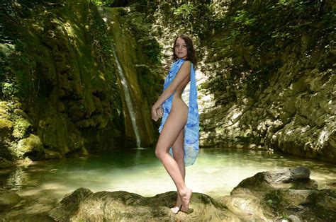 Russian Teen Foxy Di By The Waterfall Russian Sexy Girls