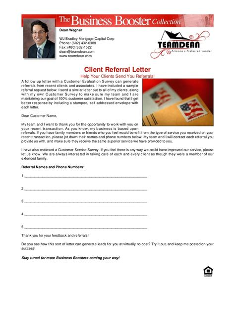 Client Referral Letter