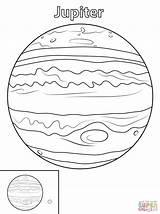 Coloring Jupiter Planet Printable Drawing Paper sketch template