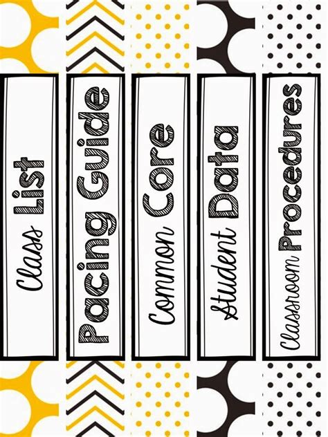1 inch binder spine template kodaly inspired classroom july 2014