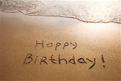 happy birthday beach sign royalty  stock image image