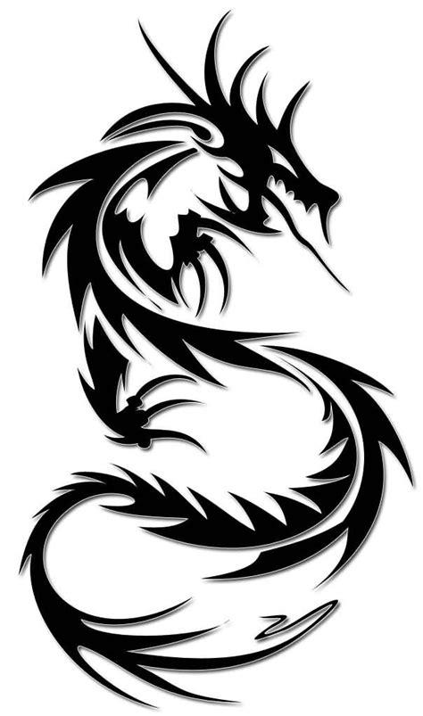 Funky Dragon Tattoo Design Stencil On Paper | Tatuajes tribales, Dragones tribales y Tatuajes