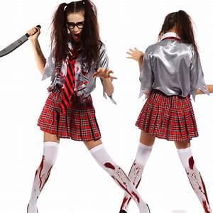 6 Horror Scary Zombie Costume Walking Dead Ghost Halloween ...