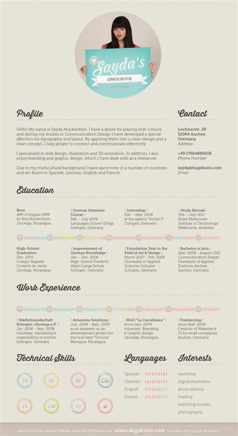 Original Resumes Designs by 50 Curriculos De Designers Criativos Criatives
