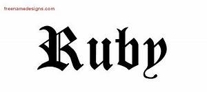 Blackletter Name Tattoo Designs Ruby Graphic Download ...