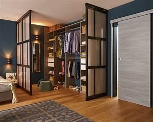 Chambre Dressing : joli dressing dans le coin de la chambre leroy merlin ~ Voncanada.com Idées de Décoration