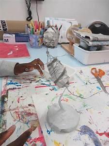 Bandes De Platre Bricolage : sculpter avec des bandes pl tr es atelier d 39 art plastique pl tre clay paper mache ~ Dallasstarsshop.com Idées de Décoration
