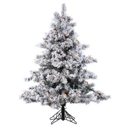 vickerman snowy alaskan cluster tree 4 5 pre lit flocked alaskan artificial tree clear lights walmart