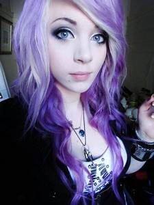amber mccrakin, curly hair, cute, gorgeous, purple hair ...