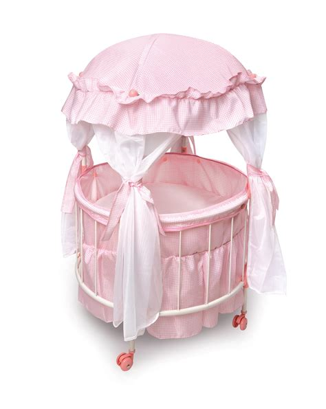 baby doll cribs badger basket royal pavilion doll crib with canoby