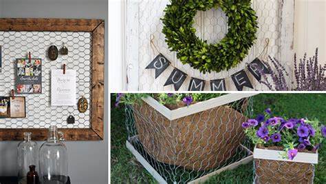 clever diy chicken wire rustic decor ideas   home
