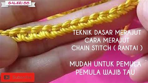 crochet  merajut chain  rantai  pemula