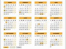 Horario y calendario