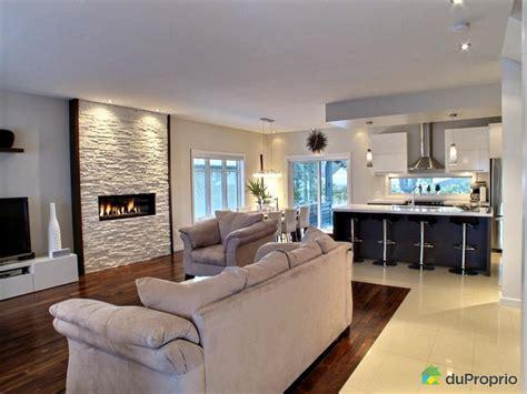 finition de cuisine finition haut de gamme foyer au gaz plafonds 9 pieds