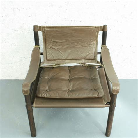 arne norell sirocco brown leather safari chair lovely