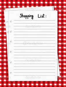 Printable Blank Shopping List