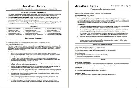 Hr Resume by Hr Generalist Resume Sle