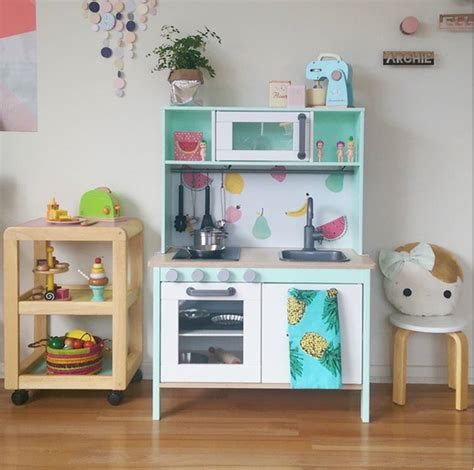 ikea play kitchen  duktig hacks apartment therapy