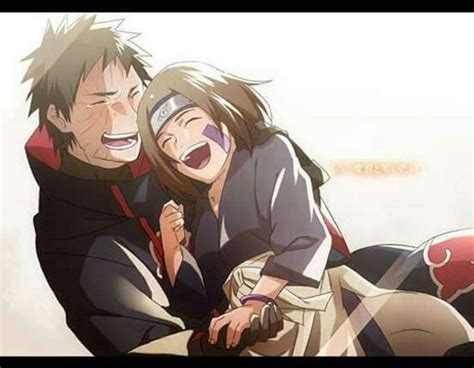 Laughing Together Obito And Rin By Chu0403